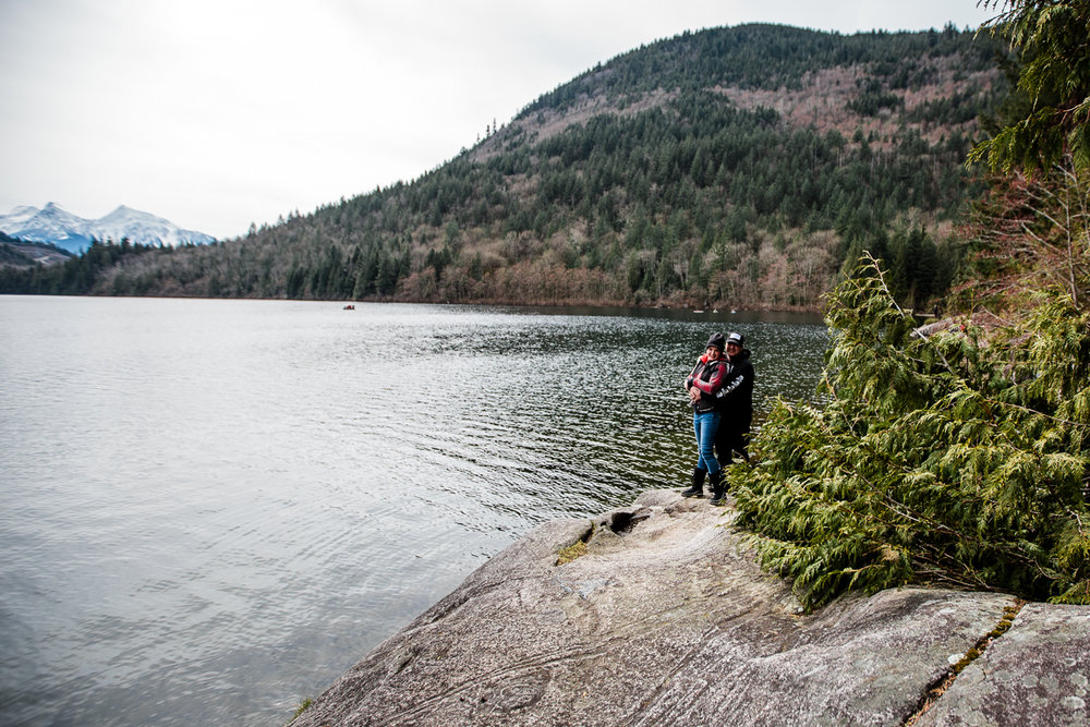 Sasquatch Park Hicks Lake Camping Engagement Session Plaid Fishing Child Forest Fun Candid Documentary-140.JPG