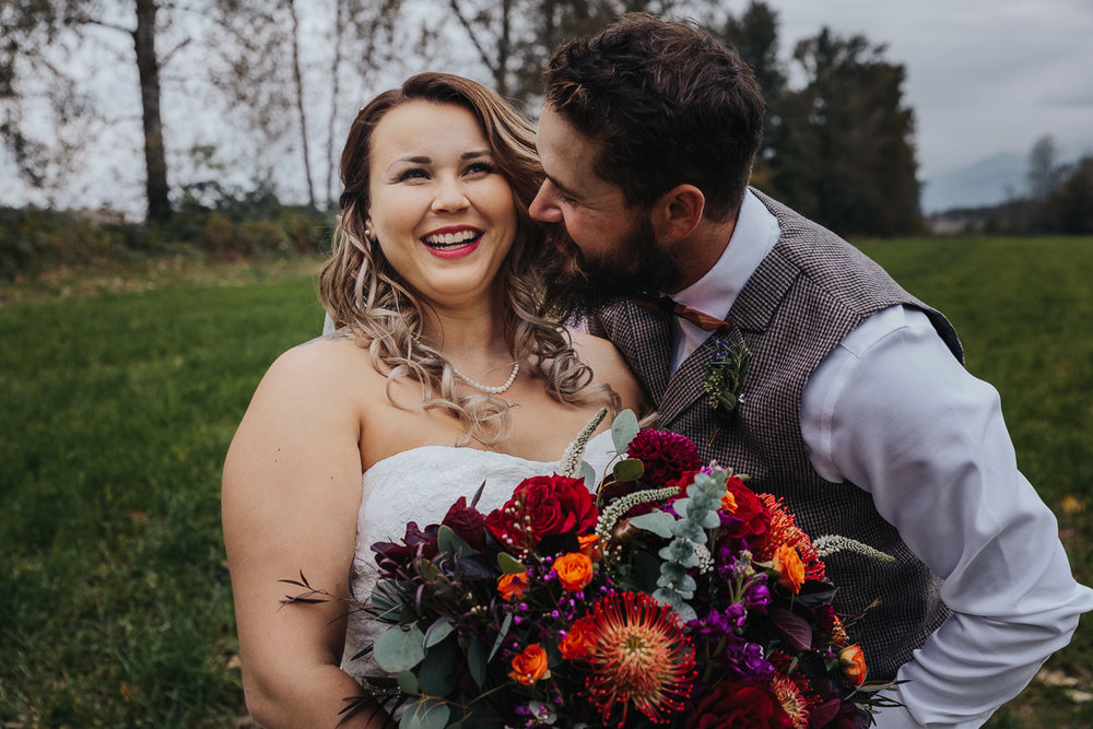 Fall Fraser River Lodge Rustic Wedding - Purple, Plaid, Wood, Red (75 of 225).JPG