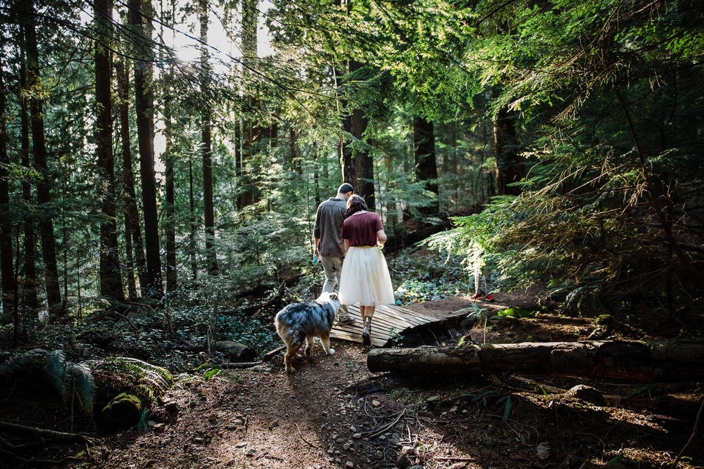 North Vancouver Forest Trails Engagement Photography Dog Walk -0103.JPG