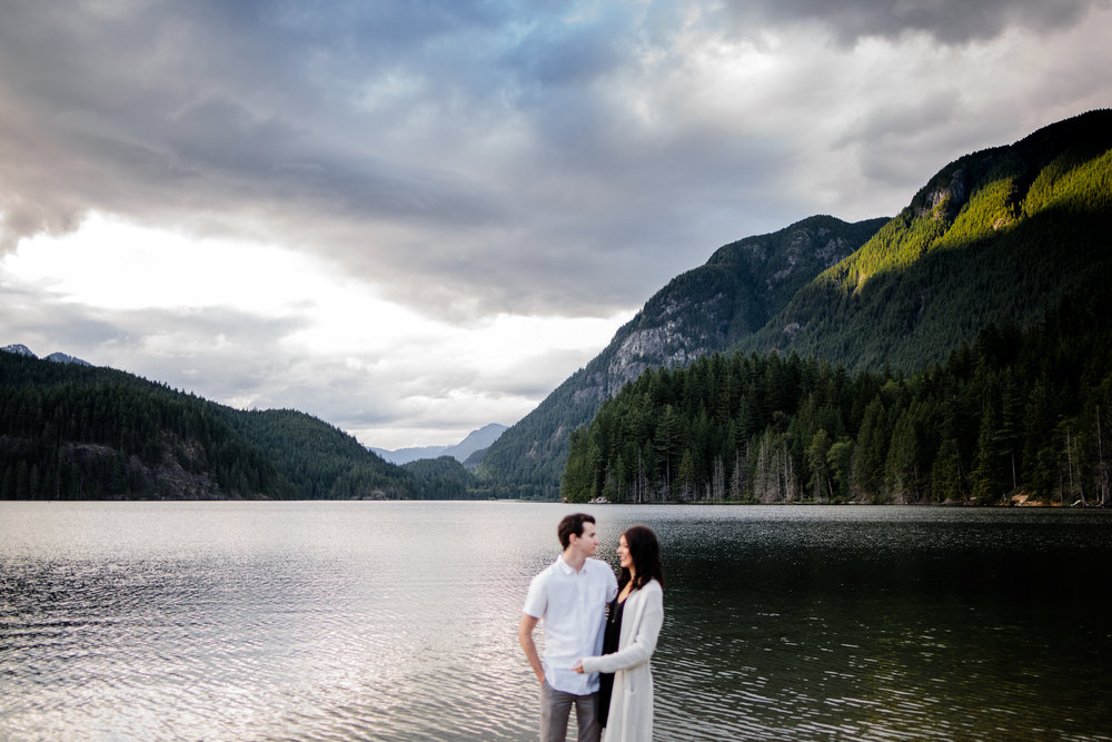 Photo of Buntzen Lake Anmore British Columbia Landscape Best Fun Engagement Photographer Port Moody Wedding Sunset Romantic Couple Photos 069.jpg