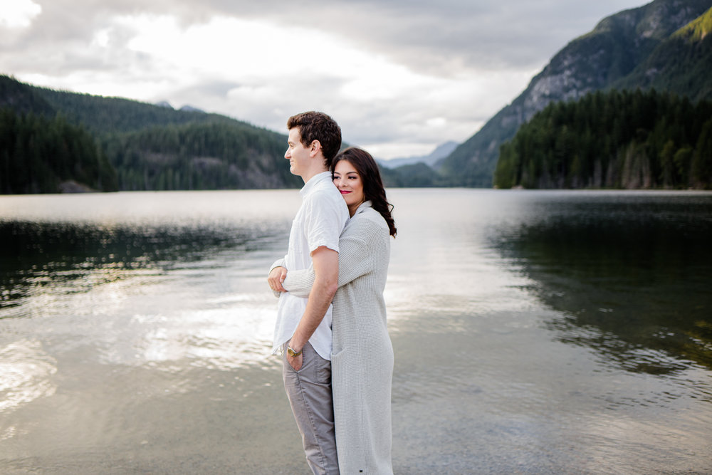Photo of Buntzen Lake Anmore British Columbia Landscape Best Fun Engagement Photographer Port Moody Wedding Sunset Romantic Couple Photos 081.jpg