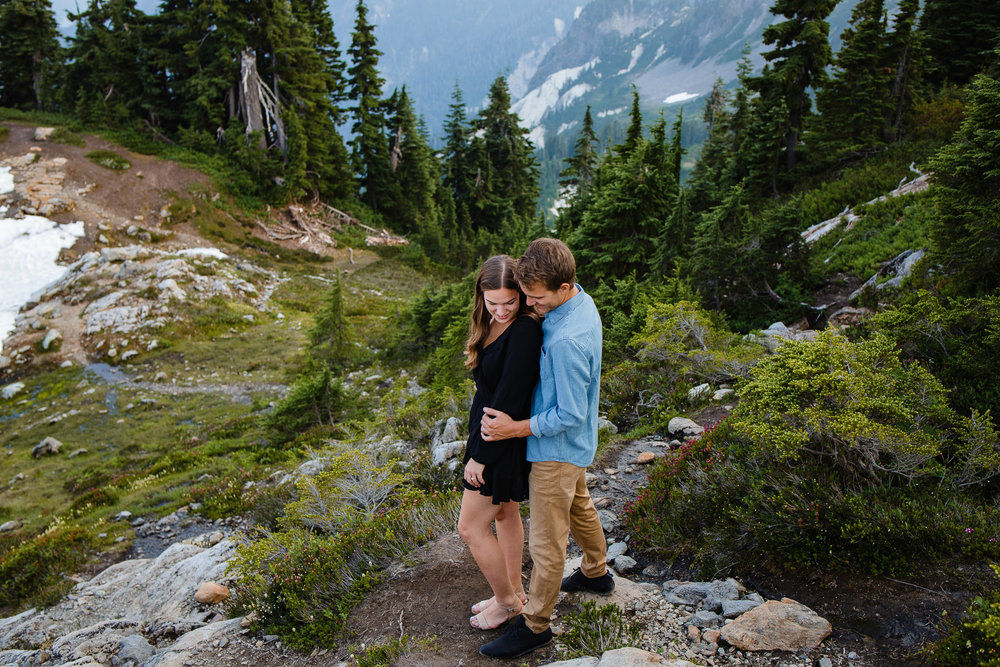Artist Point Mount Baker Scenery Engagement Photography Inspo Couple Romantic Young Black Jean Sunset-131.jpg