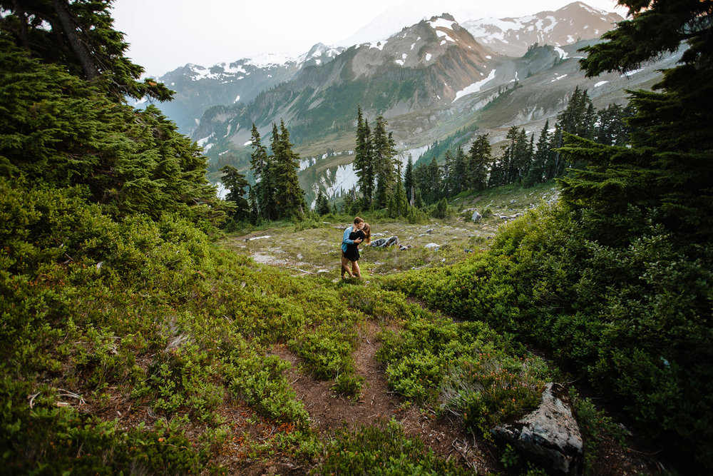 Artist Point Mount Baker Scenery Engagement Photography Inspo Couple Romantic Young Black Jean Sunset-171.jpg