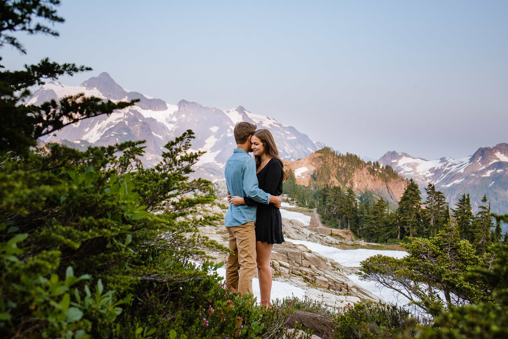 Artist Point Mount Baker Scenery Engagement Photography Inspo Couple Romantic Young Black Jean Sunset-147.jpg
