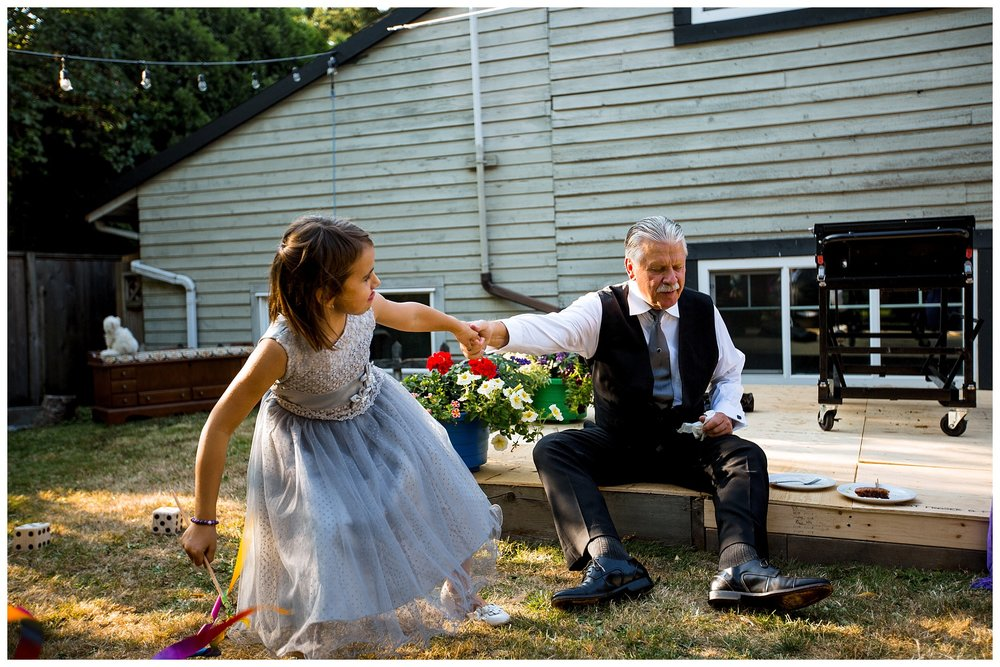 Aldergrove backyard summer wedding photographer bc canada outdoor garden inspiration family couple with kids, bride and groom_0075.jpg