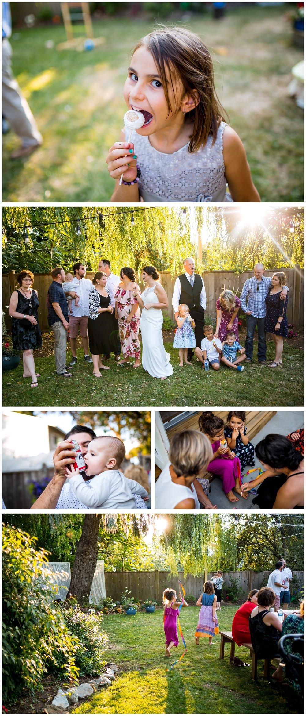 Aldergrove backyard summer wedding photographer bc canada outdoor garden inspiration family couple with kids, bride and groom_0079.jpg