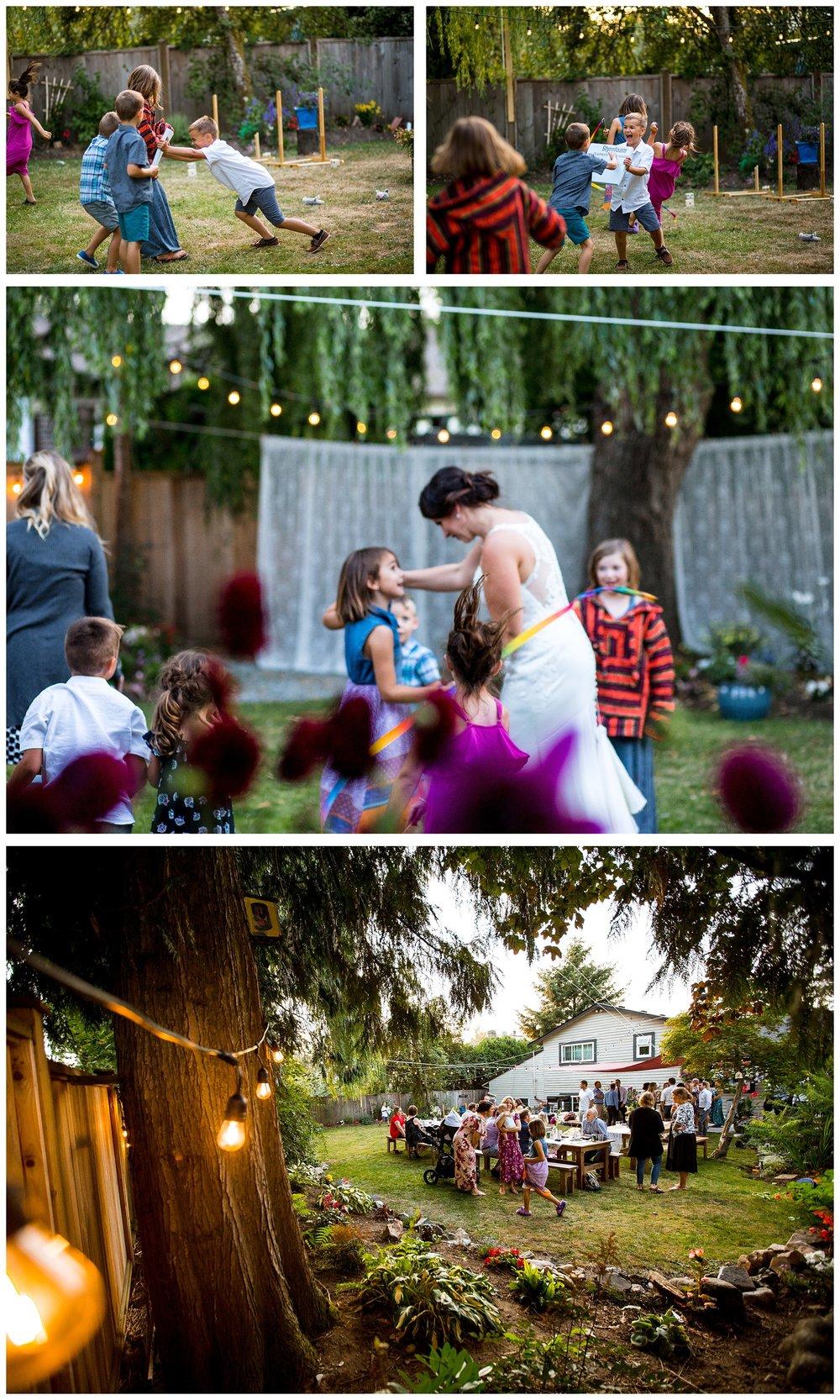 Aldergrove backyard summer wedding photographer bc canada outdoor garden inspiration family couple with kids, bride and groom_0082.jpg
