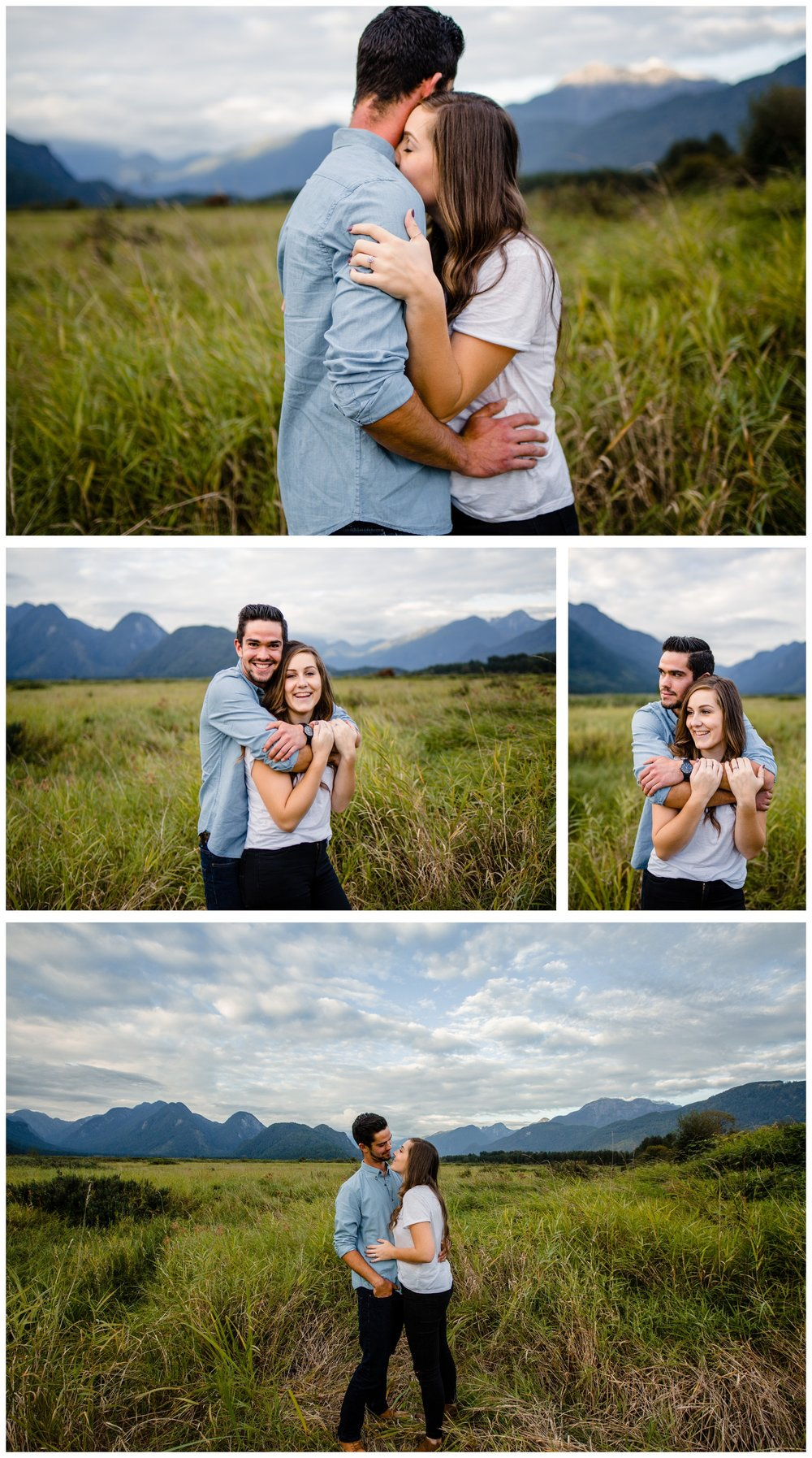 Pitt Lake Pitt Meadows Engagement Photographer Romantic Couple Mountains Lake Black Jean Sunset Flash Fall Fun Photos_0064.jpg