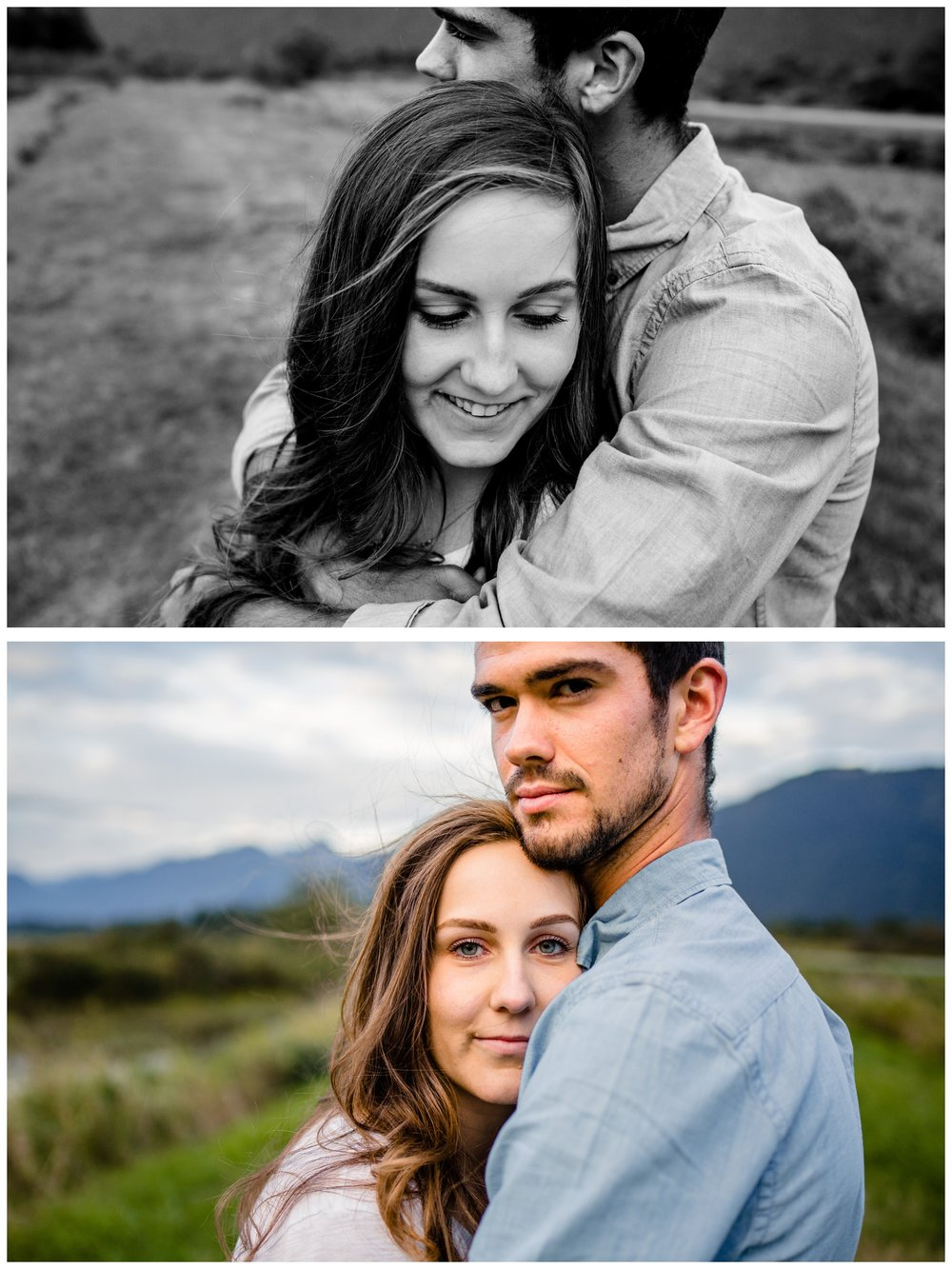 Pitt Lake Pitt Meadows Engagement Photographer Romantic Couple Mountains Lake Black Jean Sunset Flash Fall Fun Photos_0071.jpg