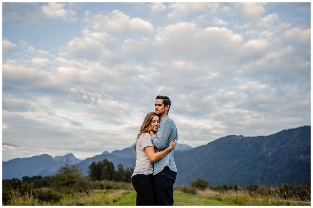 Pitt Lake Pitt Meadows Engagement Photographer Romantic Couple Mountains Lake Black Jean Sunset Flash Fall Fun Photos_0075.jpg