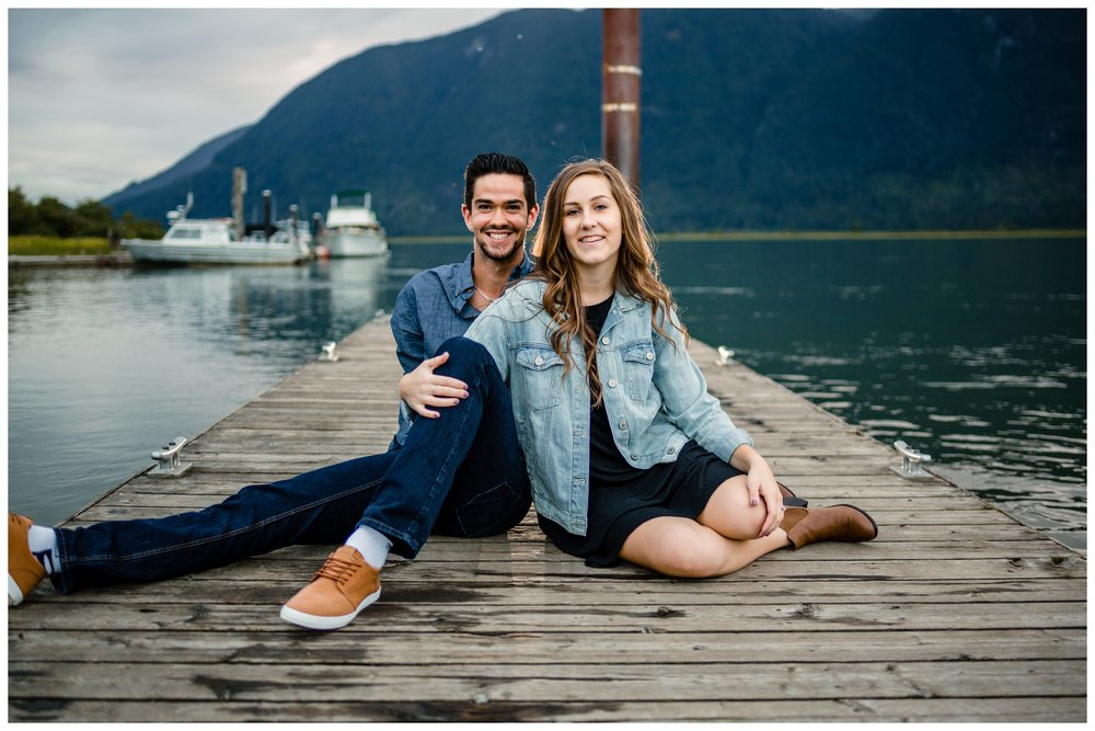 Pitt Lake Pitt Meadows Engagement Photographer Romantic Couple Mountains Lake Black Jean Sunset Flash Fall Fun Photos_0080.jpg