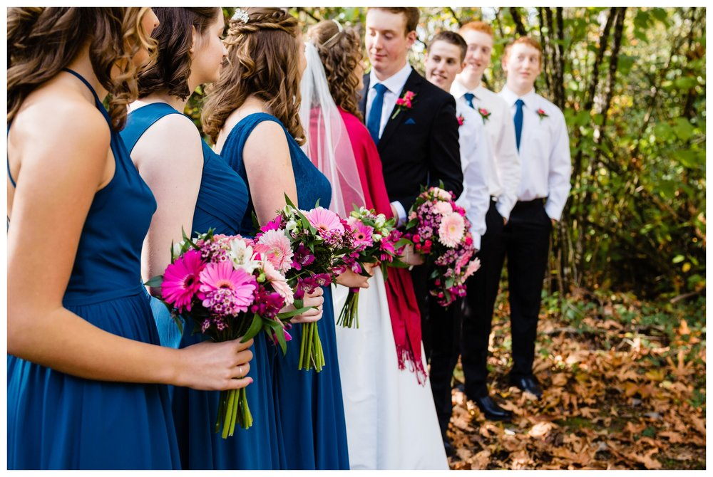 Aldergrove Park Christian Church Wedding Photography Pink Flowers Blue Bridesmaid Dress Fall_0089.jpg