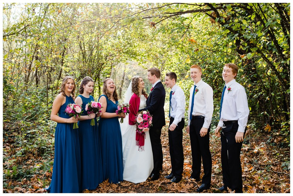 Aldergrove Park Christian Church Wedding Photography Pink Flowers Blue Bridesmaid Dress Fall_0090.jpg
