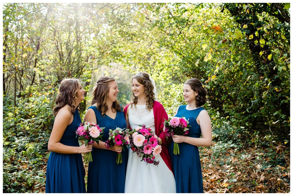 Aldergrove Park Christian Church Wedding Photography Pink Flowers Blue Bridesmaid Dress Fall_0092.jpg