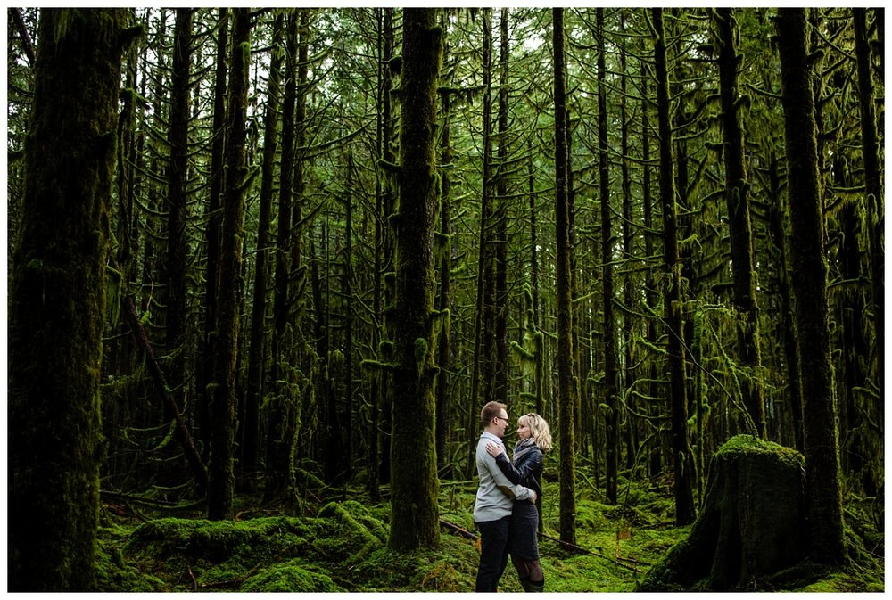 Alouette Lake Spirea Forest Engagement Photo Session Green Forest Woods Rich Colours Candid Happy Love Maple Ridge photographer_0001.jpg