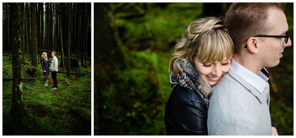 Alouette Lake Spirea Forest Engagement Photo Session Green Forest Woods Rich Colours Candid Happy Love Maple Ridge photographer_0011.jpg