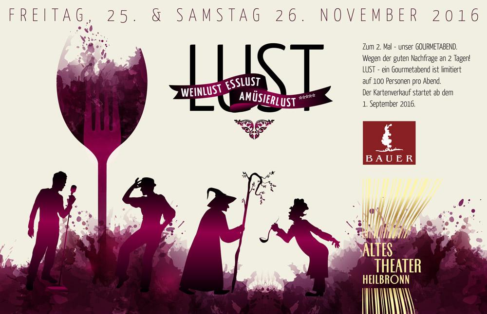 LUST - Gourmetabend ALTES THEATER Heilbronn Weingut Bauer