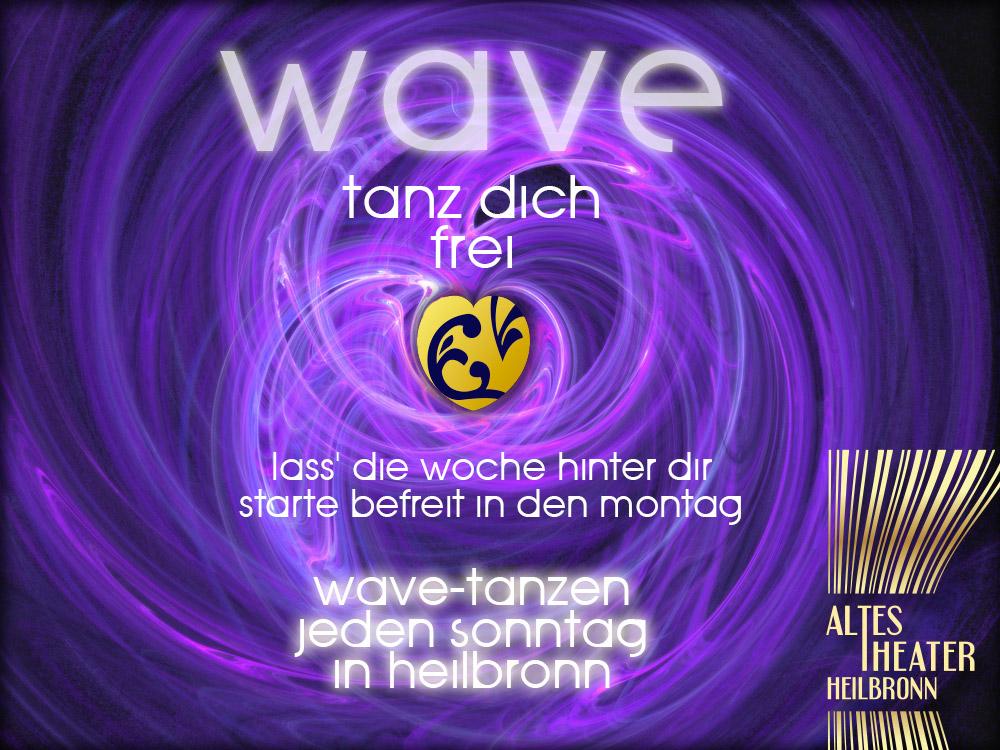 Das freie Tanzen bei einer WAVE basiert auf der 5 Rhythmen Tanztherapie von Gabrielle Roth.