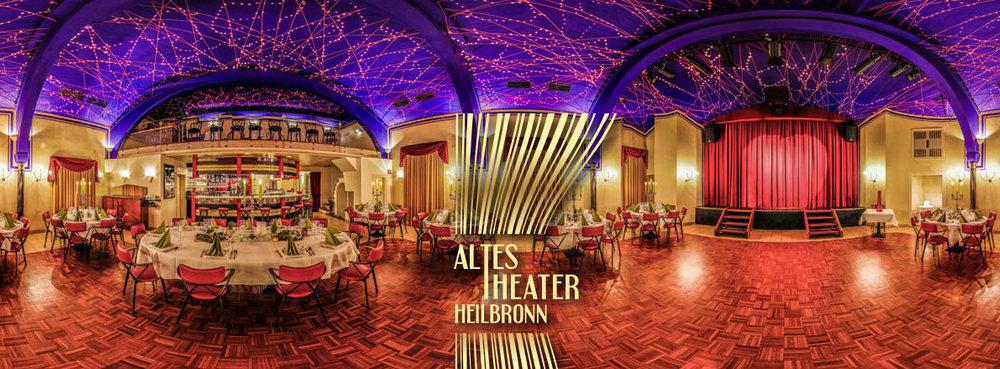 Neujahrsfeiern / Geburtstage / Hochzeiten und Firmenfeste … zauberschön feiern im ALTES THEATER Heilbronn unter dem Sternenhimmel