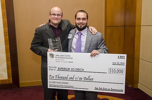 UC Denver Jake Jabs Business Plan Competition 1st Place for $10,000