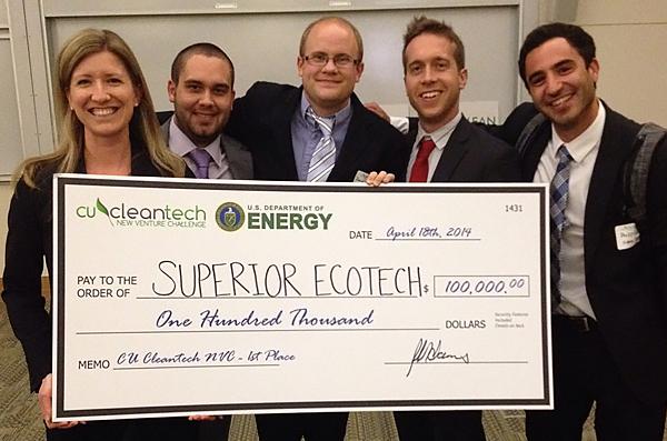 CU Cleantech NVC 1st Place for DOE $100,000 Clean Energy Prize.
