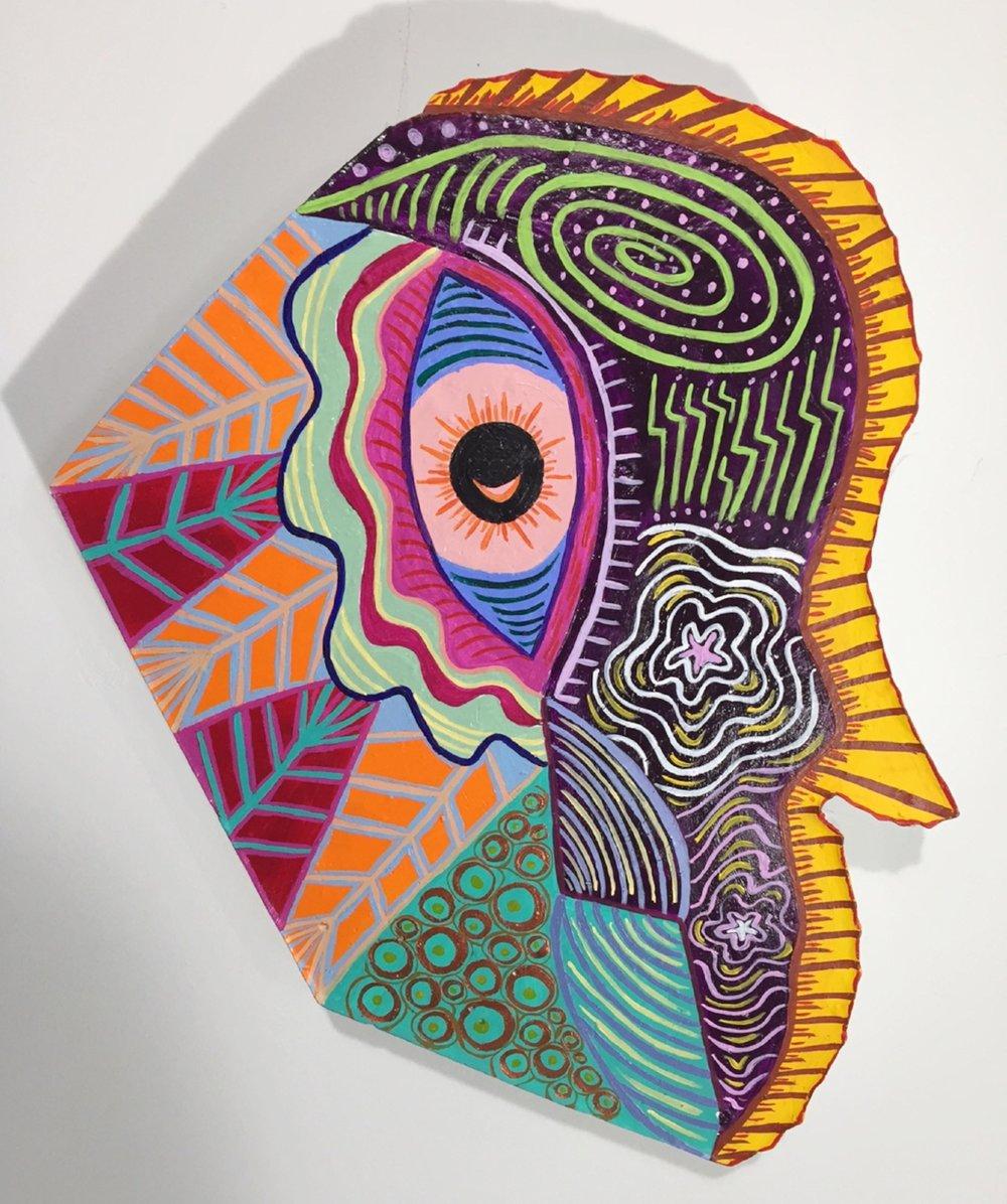 """A Mind Meld"" Acrylic on Canvas"