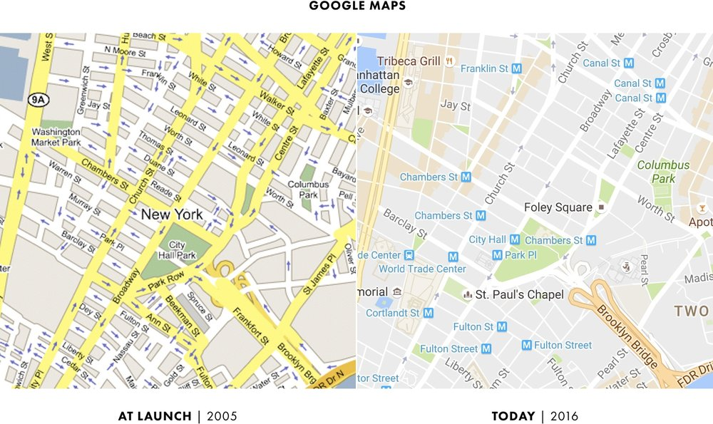 0 - Boiling Frogs - Google Maps - At Launch vs Today.png