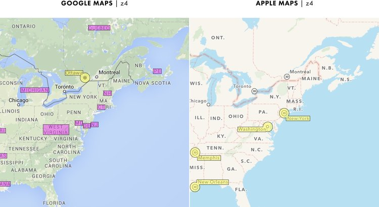 Cartography Comparison Part - Georgia map label