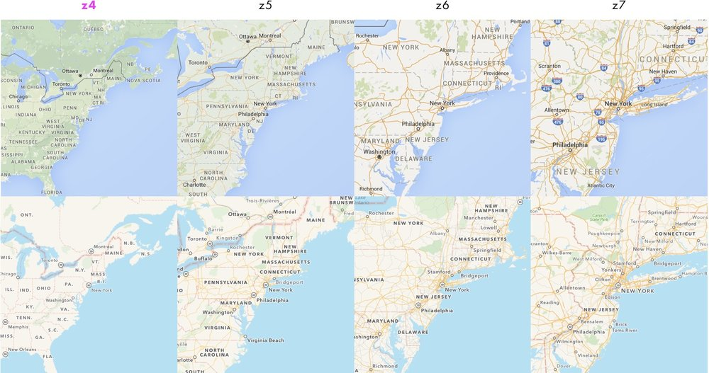 Cartography Comparison Part Justin OBeirne - Map of eastern half of us