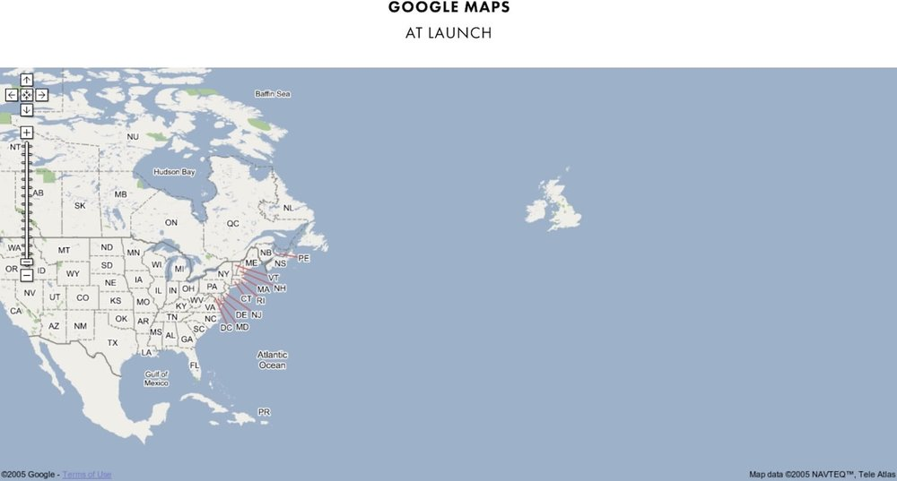when google maps first launched in 2005 it was little more than a road map of north america and the british isles