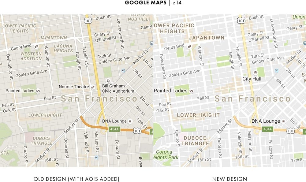 A Year Of Google Maps Apple Maps - Colors in google maps