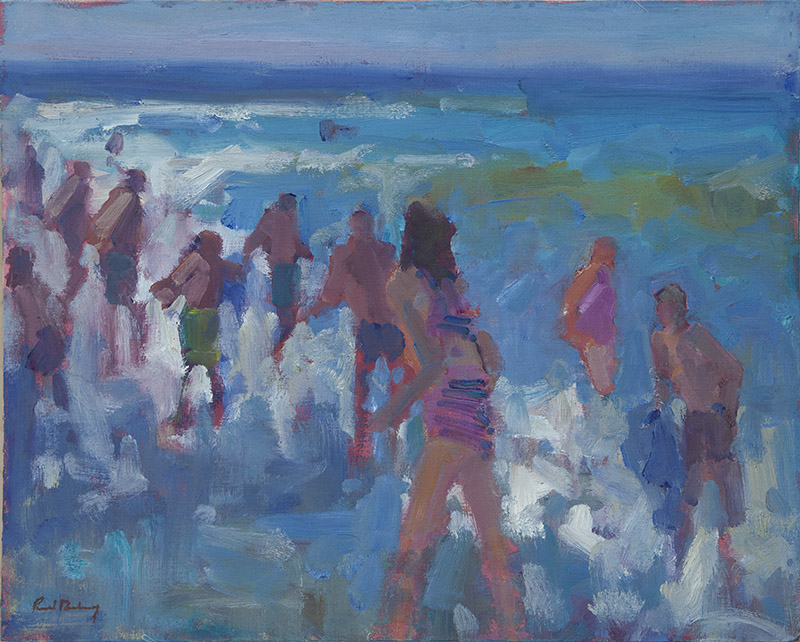 AUGUST BATHERS: 8 x 10 in:  Oil