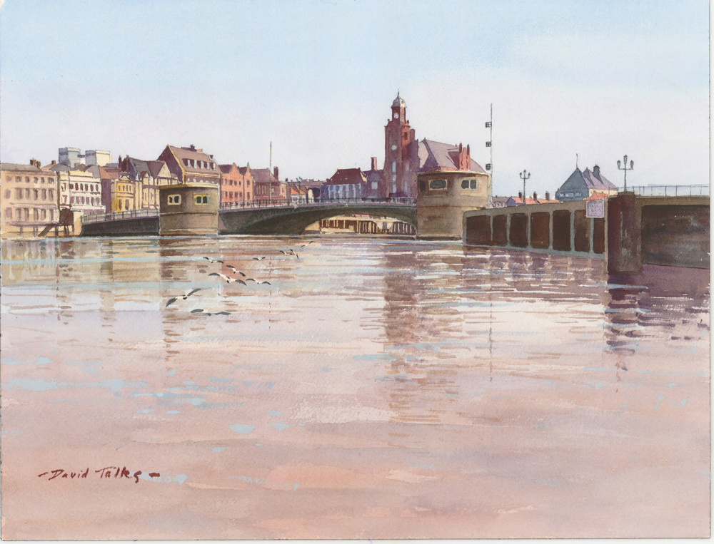 HIGH TIDE GREAT YARMOUTH:  12 x 16 in: Watercolour