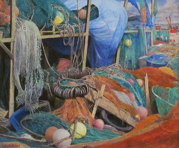 A FISHERMAN'S CUPBOARD:  20 x 24 in: Oil