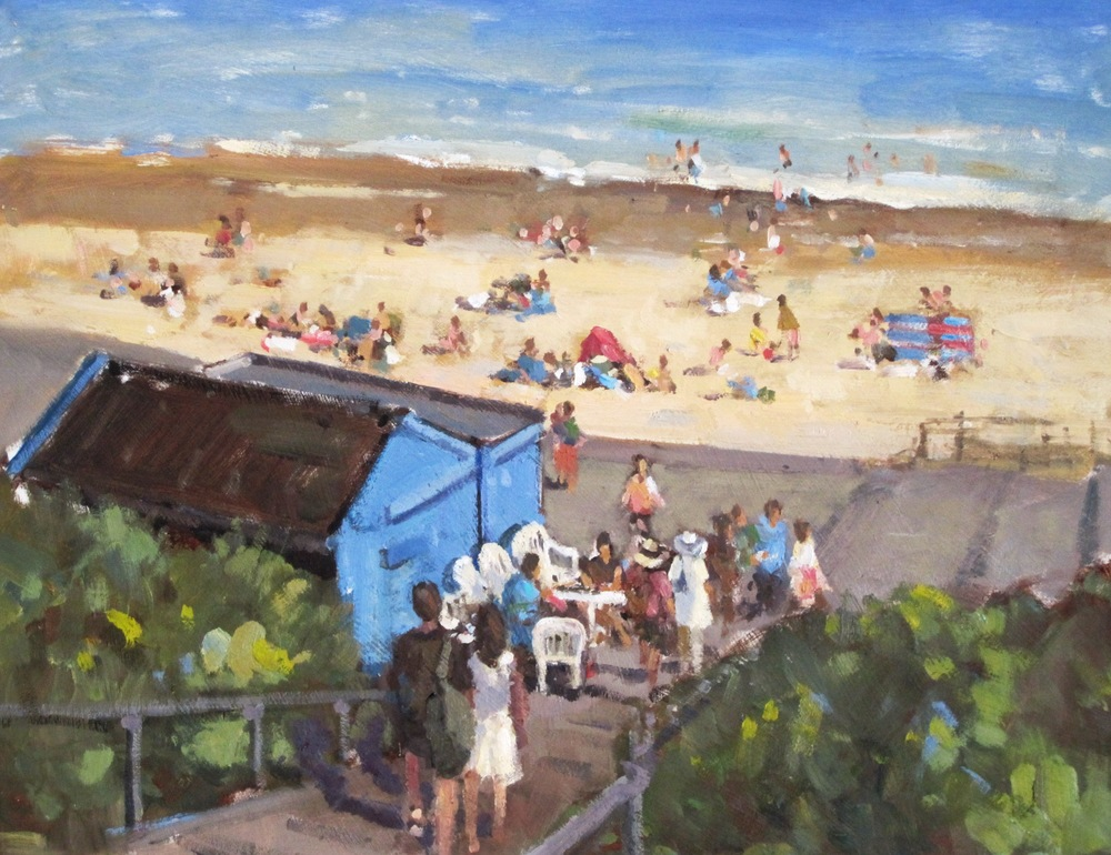 SOUTHWOLD BEACH: Oil