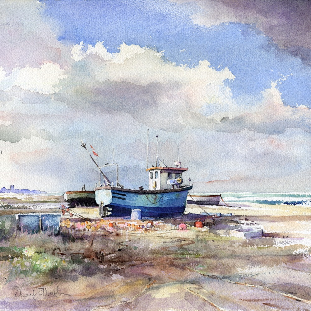"SUMMER""S EVENING ALDEBURGH: 11 x 11 in: Watercolour"
