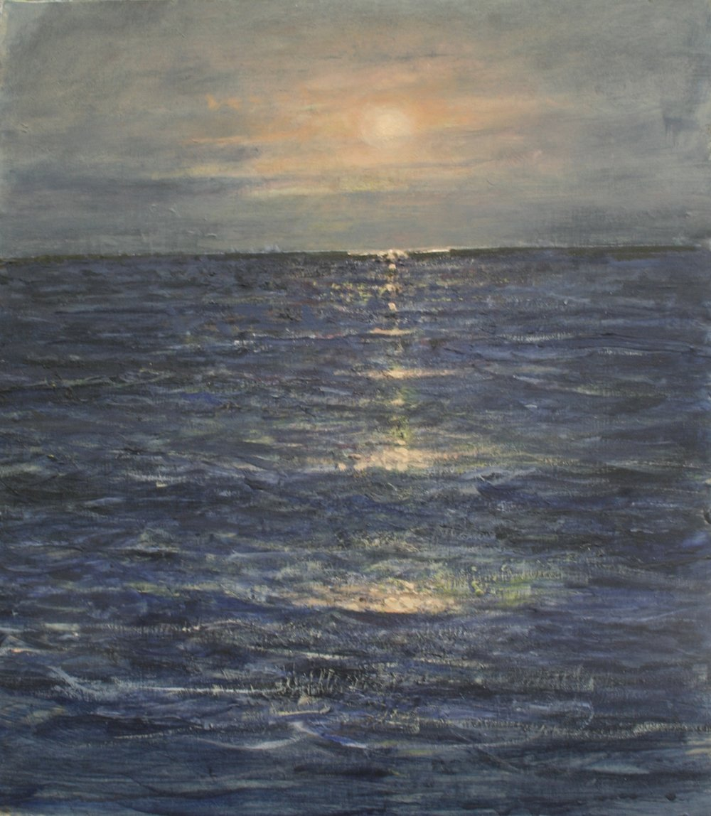 BALTIC SUNSET: oil