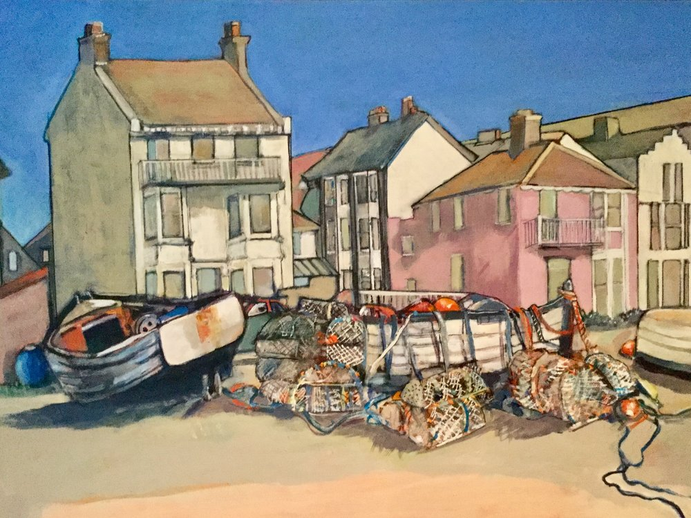 WASHED UP ALDEBURGH: 42 x 54 cm: Acrylic