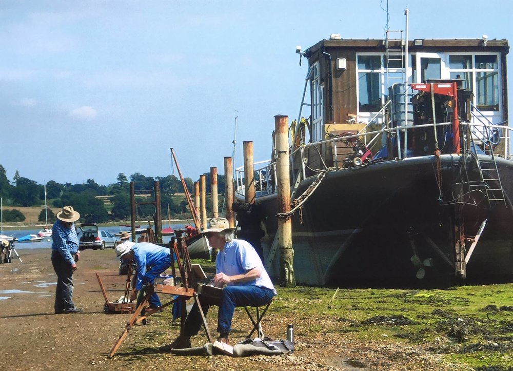 A painting day at Pin Mill
