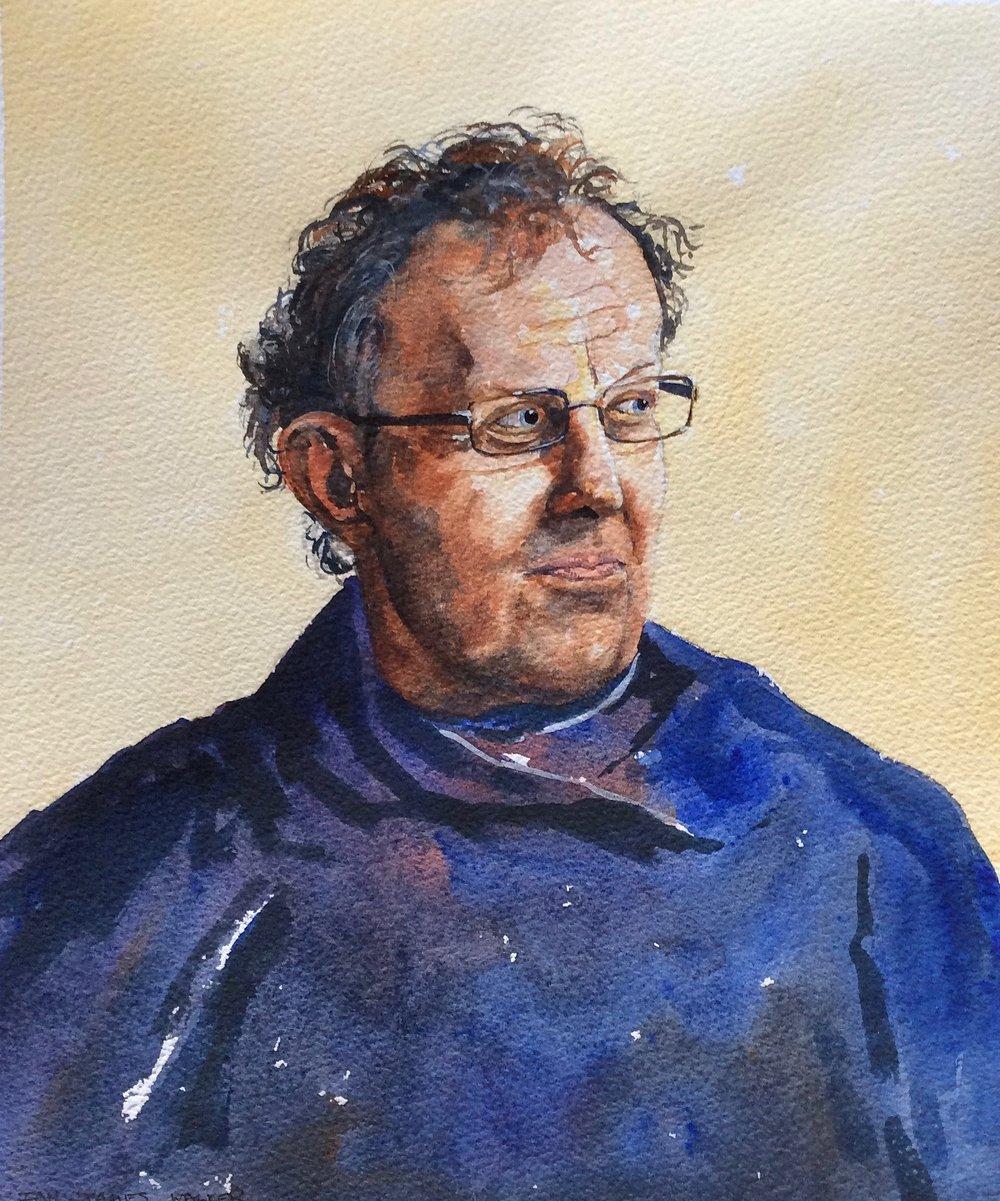 SELF PORTRAIT: 30 x 25 cm: watercolour