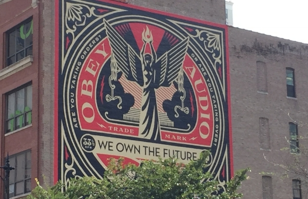 Modern graffiti art by Shepard Fairey