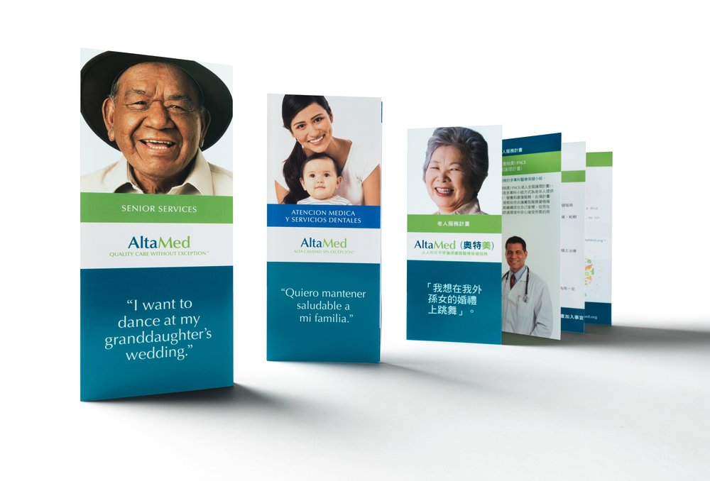 AltaMed brochures in various languages