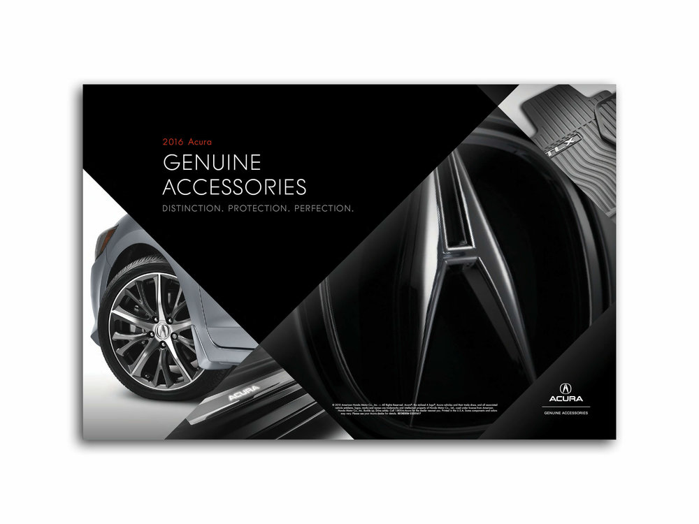 Acura Genuine Accessories Info Display Poster