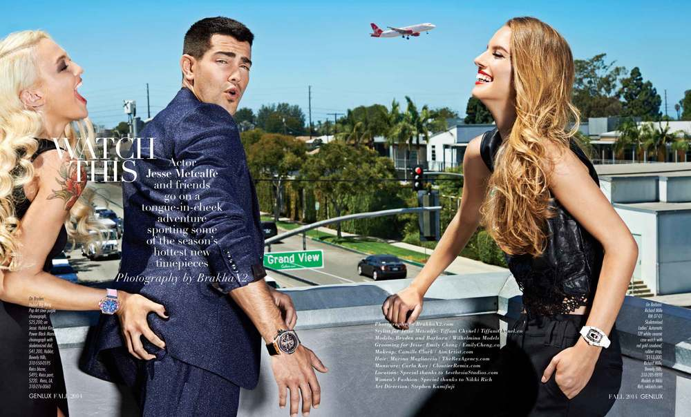 Image: Jesse Metcalfe in GENLUX Magazine by MUAH Emily Cheng - former Vancouver MUAH now based in California