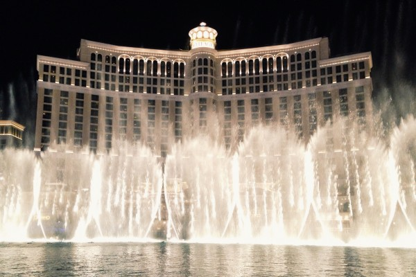 The Bellagio fountain show is worth it. Way better than I expected.