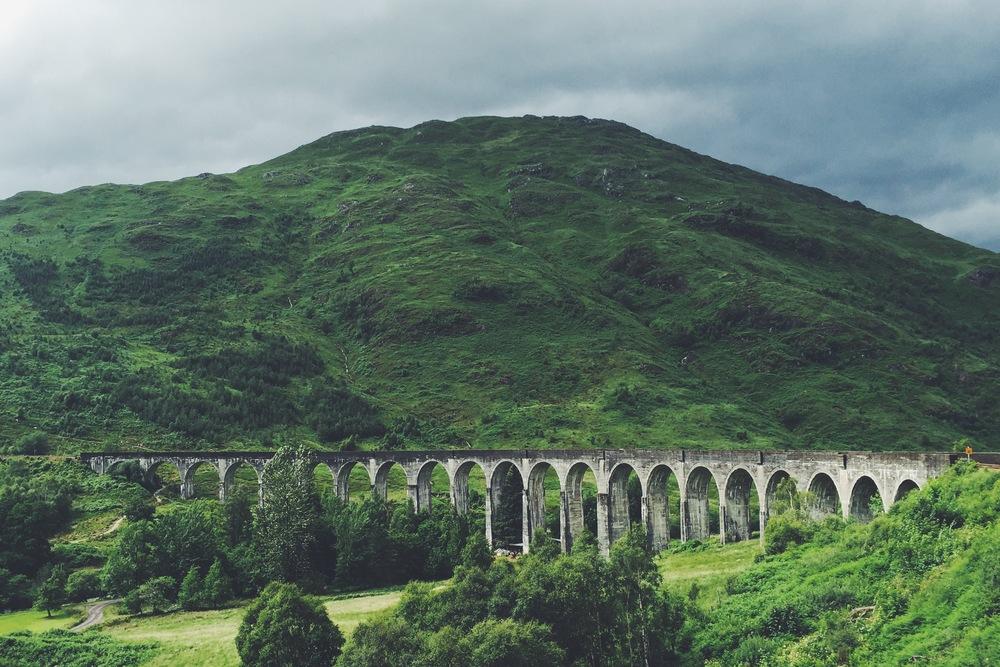 The Glenfinnan Viaduct.