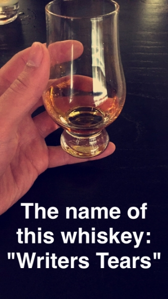 An Irish whiskey I tried. Couldn't pass on it.