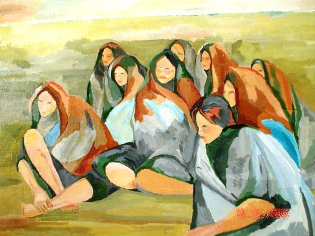 13. f. mereu, donne del deserto, tempere su tela, 2001.jpg