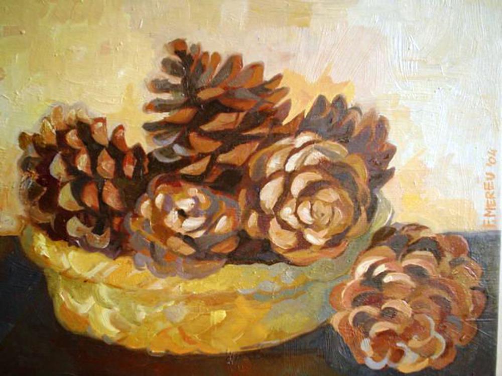 2. f. mereu, pigne, olio su tela 30 x 40 cm, 2004.jpg