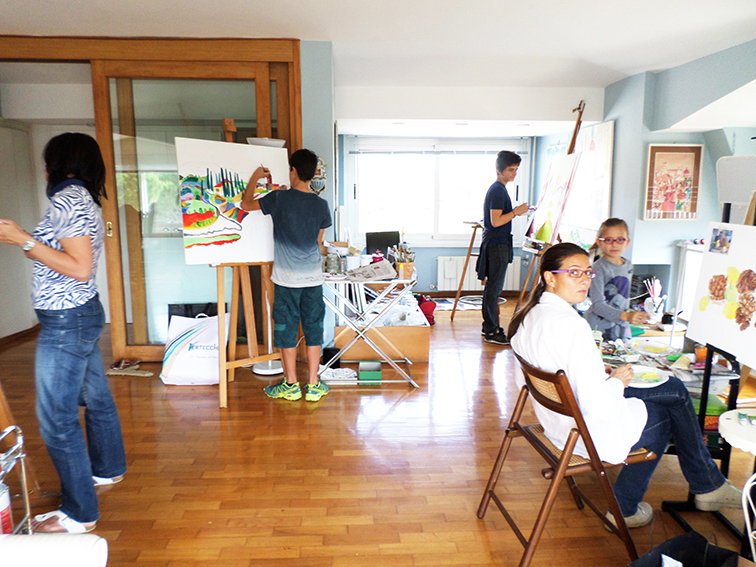 50. allievi al lavoro nel mio Studio.JPG